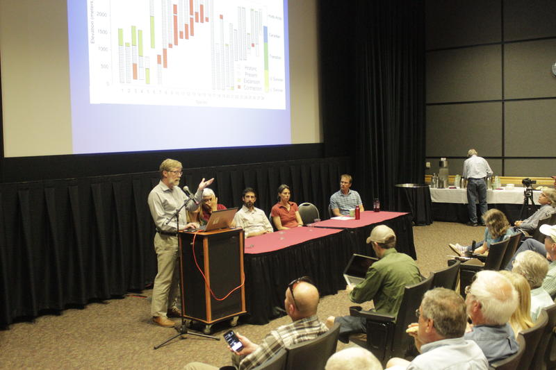 <p>Panelists share their research on climate change in Montana