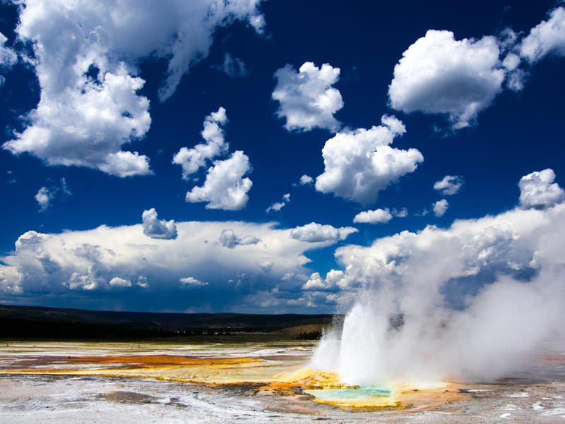 Clepsydra geyser, Yellowstone National Park, lower geyser basin