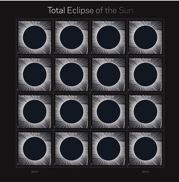 the Post Office has issued a commemorative stamp for 2017's upcoming historic solar eclipse.