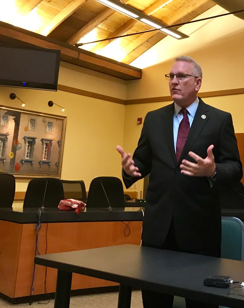 Montana Attorney General Tim Fox in Missoula Monday