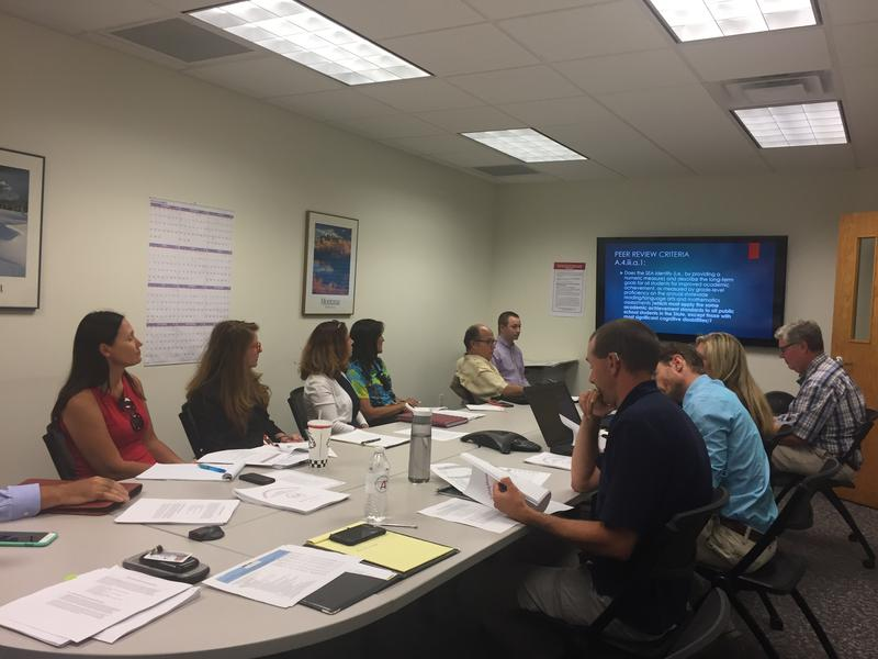 Education groups meeting with Montana Office of Public Instruction to discuss new state draft plan to comply with 2015 Every Student Succeeds Act.