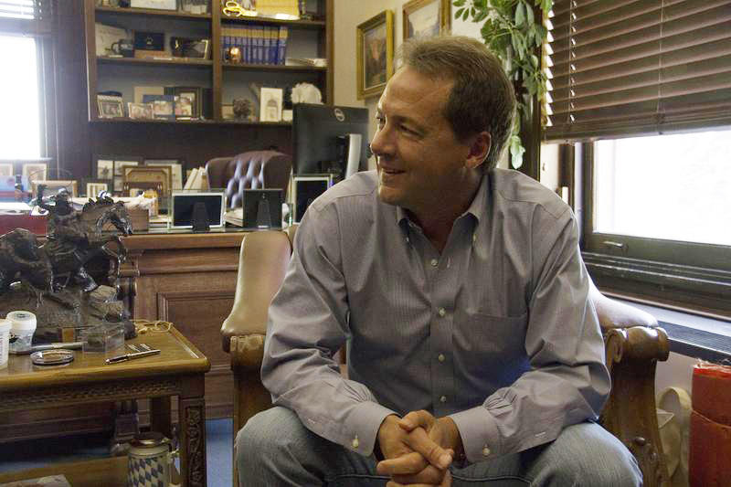 Gov. Steve Bullock in his office in Helena, MT.