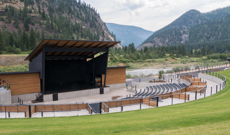 The KettleHouse Amphitheater sits along the bank of the Big Blackfoot River, just north of the new KettleHouse Brewing facility and the old lumber mill in Bonner, MT.