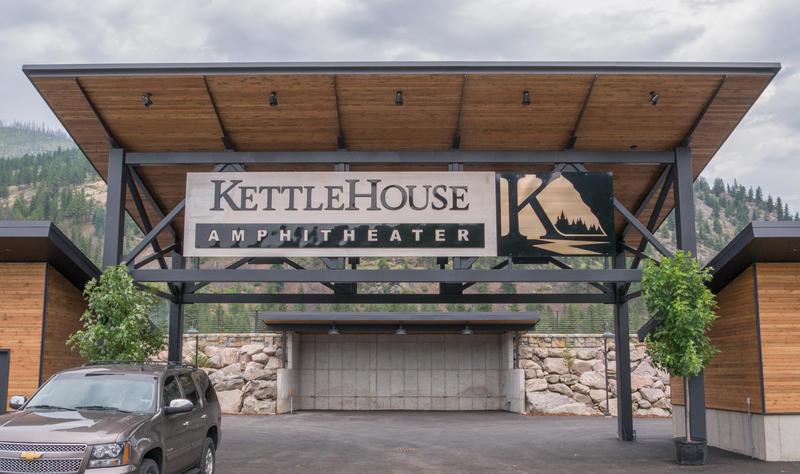 The KettleHouse Amphitheater entrance.