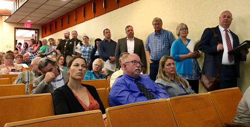 Hundreds showed up to testify in Helena against cuts to Medicaid, July 27, 2017.