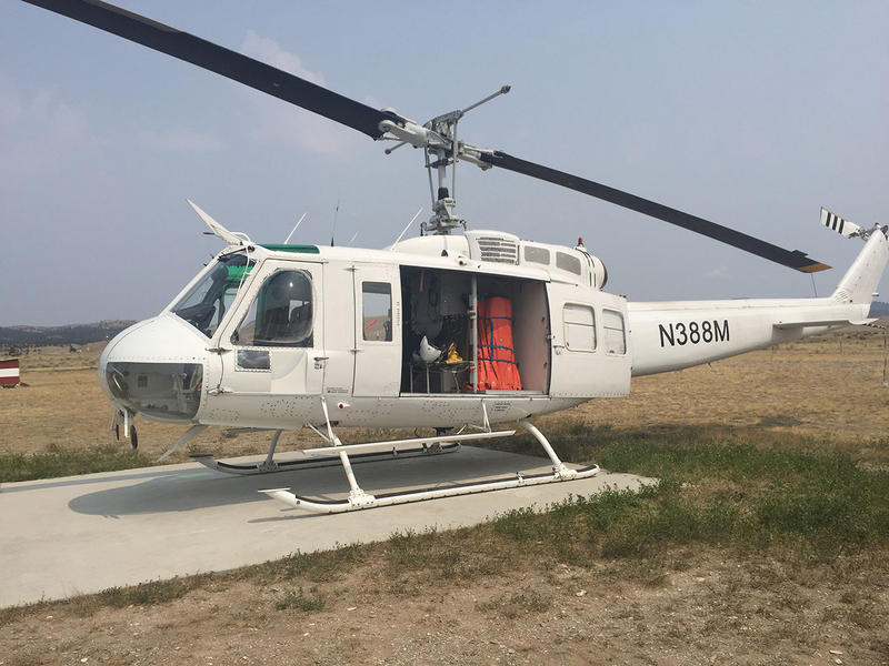 One of the five helicopters DNRC has stationed around the state to fight wildfires.