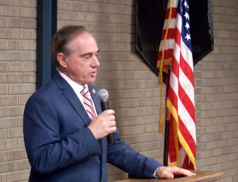 Secretary of the Veterans Administration David Shulkin at an event in Helena, MT August 21, 2017.