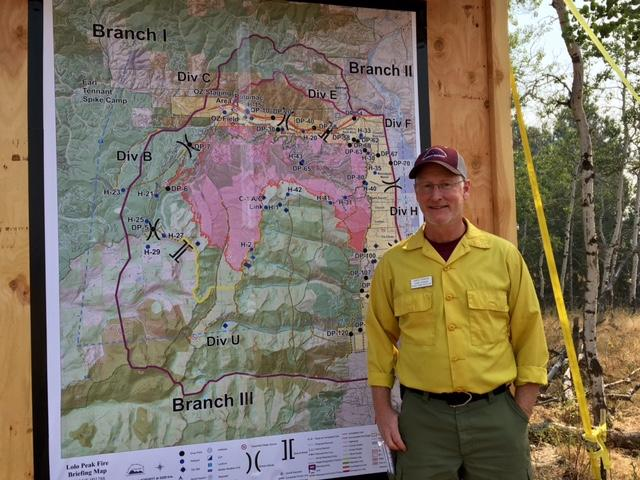 Greg Poncin is Incident Commander on the Lolo Peak Fire.