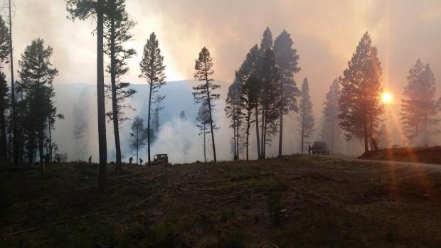 The Park Creek Fire north of Lincoln is burning in the area of the planned Stonewall Vegetation Project.
