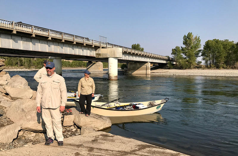 Scott Opitz, fisheries biologist with Montana Fish, Wildlife and Parks, stands near the Yellowstone River south of Livingston, MT August 25, 2017.