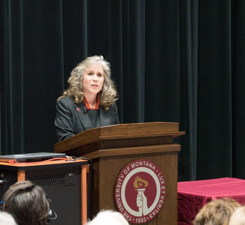 Mirta Martin, candidate for UM President speaks during a campus visit September 18, 2017.