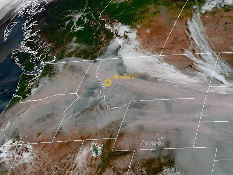 Smoke covers the northwest on Sept. 4 2017.