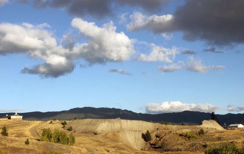 The Orphan Girl mine dump behind Montana Tech