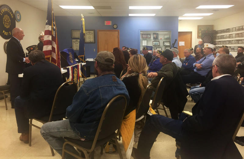 More than 40 veterans took turns sharing stories about using the Veteran Affairs healthcare system during a meeting at the American Legion Post in Helena October 23, 2017.