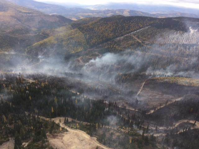 Lower Twin Creek Fire, west of Kalispell.