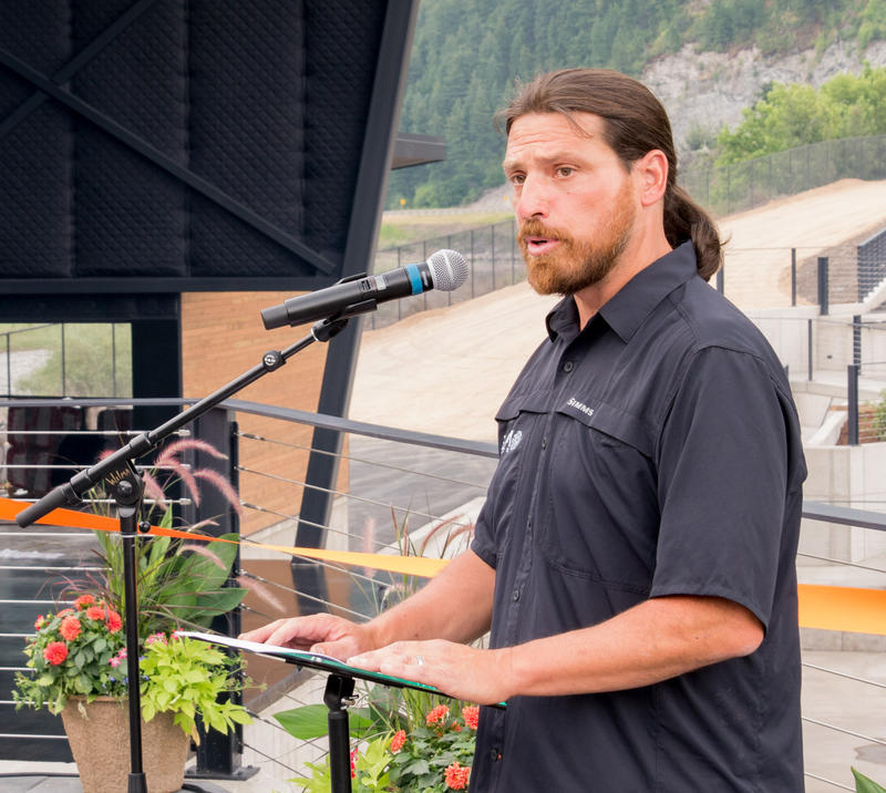 Nick Checota at the grand opening of the KettleHouse Amphitheater in Bonner, MT,