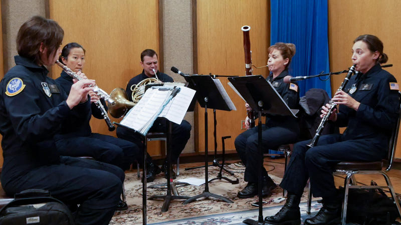 The U.S. Air Force Rampart Winds Band plays live on Montana Public Radio, October 27, 2017.