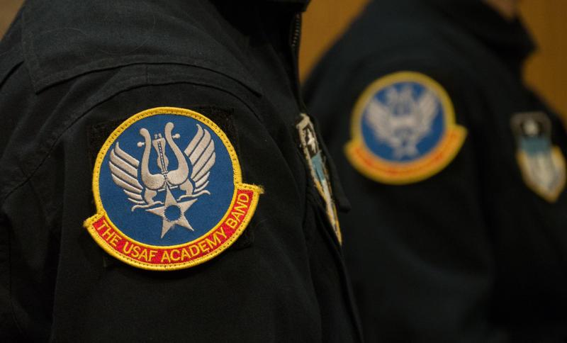 U.S. Air Force Rampart Winds Band insignia.