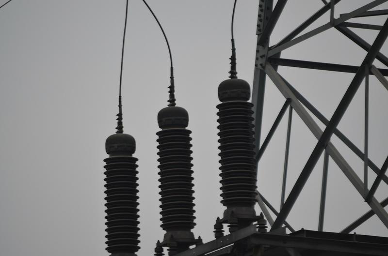 Electricity insulators.