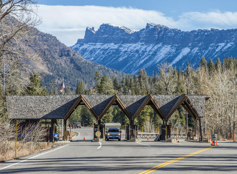 Yellowstone Park's east entrance.