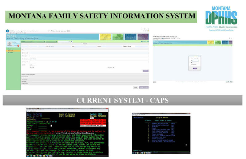The promised update to the foster care casework system is show on top, the current system is on bottom.