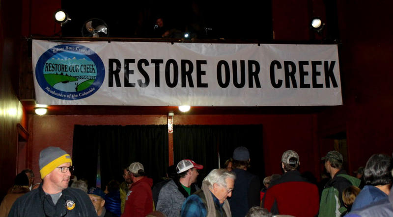 Butte locals gathered at the Covellite Theater Nov. 14, 2017 for a community rally organized by the Restore Our Creek Coalition and the Montana Standard.
