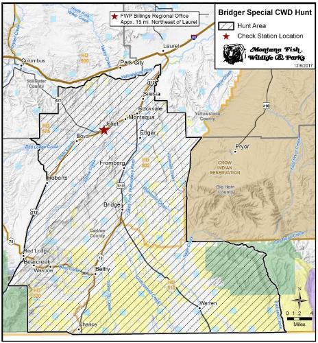 CWD Bridger Hunt Map