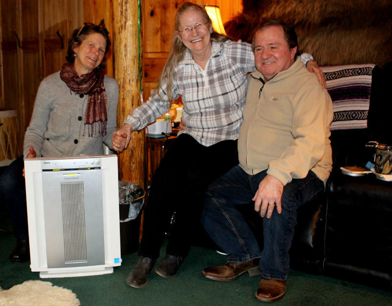Amy Cilimburg, the director of Climate Smart Missoula, helped Seeley Lake residents Joy and Don Dunagan get a HEPA air filter through a partnership with the Missoula City-County Health Department.