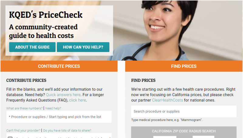 San Francisco's KQED is one of several public radio stations trying to help people find the best prices for healthcare.