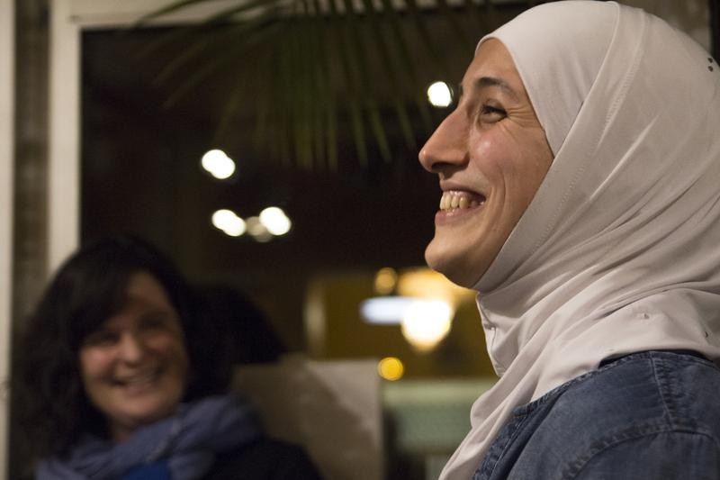 "Ghalia Almasri, right, and Mary Poole of Soft Landing Missoula introduce diners to ""A Taste of Syria"" on January 14."