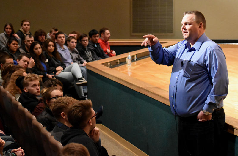 Senator Jon Tester fielded questions from Flathead Valley students at a town hall event January 5.