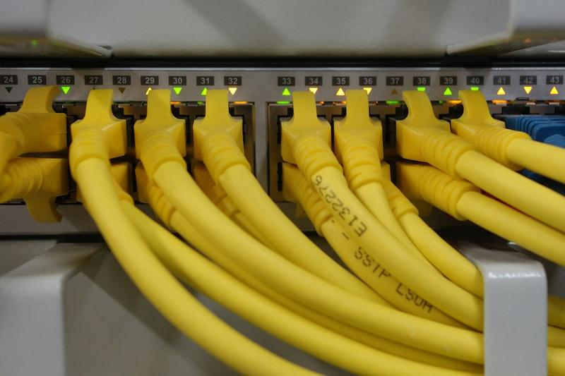 Network cables.