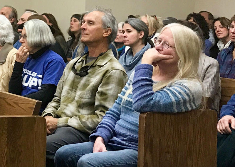 Fifty people showed up for a hearing it could overturn a county decision denying a zoning change that would block a water bottling plant in Creston.