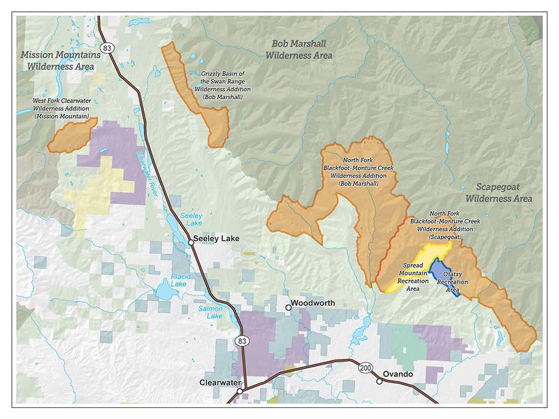 Blackfoot-Clearwater Stewardship Project map, Feb. 2018.