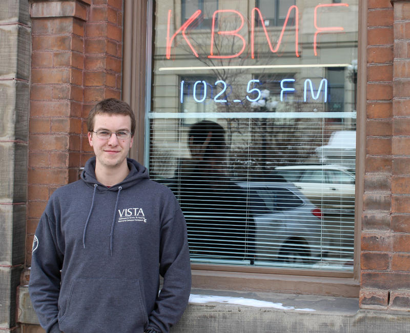 Twenty-six-year-old Butte native Daniel Hogan is an Americorps VISTA member at KBMF, Butte's community radio station