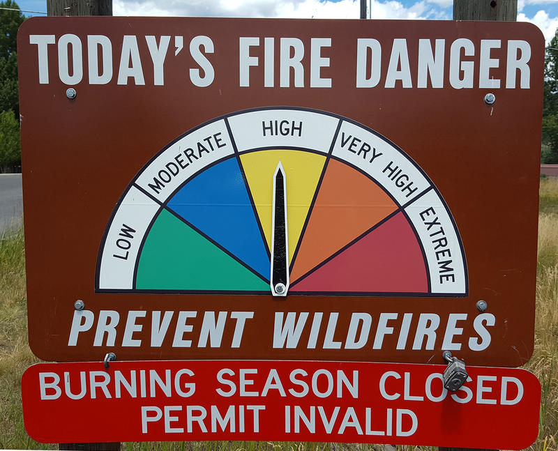 Fire danger sign.