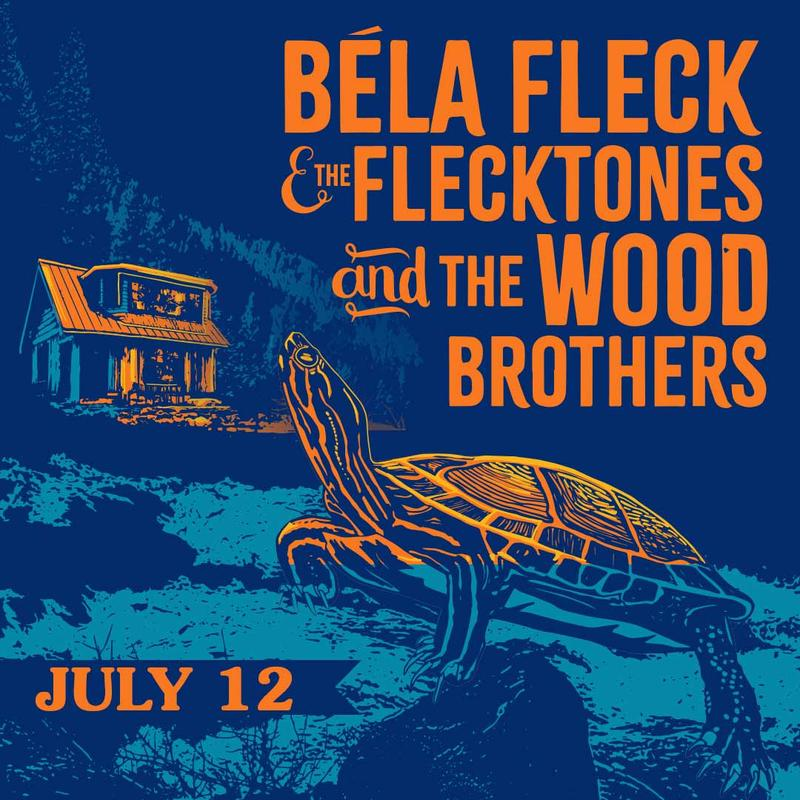 Logjam Presents: Béla Fleck & The Flecktones And The Wood Brothers at the KettleHouse Amphitheater, July 12, 2018.
