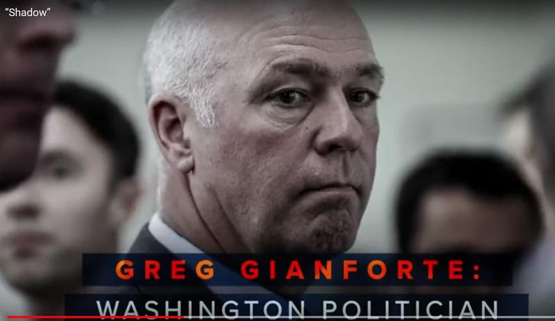 A screen capture from a League of Conservation Voters ad targeting Rep. Greg Gianforte, March 14, 2018.