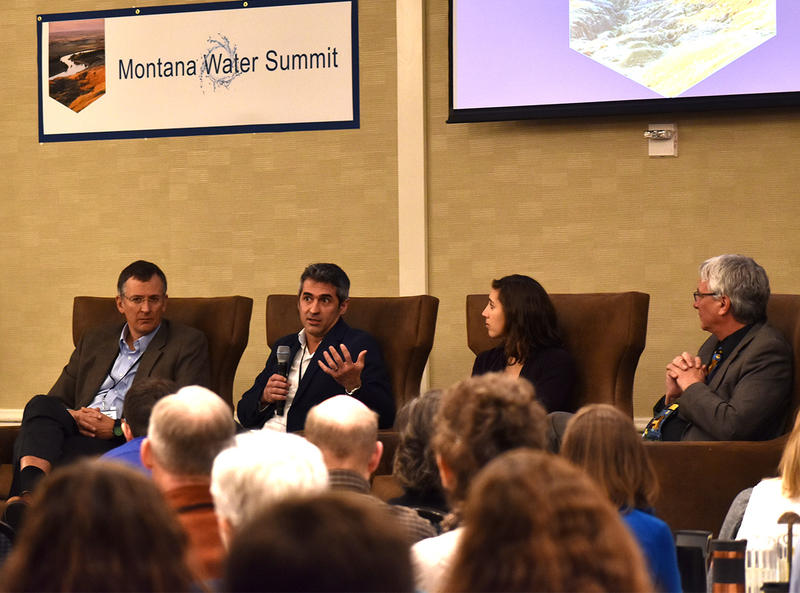 Panelists at the Montana Water Summit in Helena, MT, March 7, 2018. From the left: Leon Szeptycki, Marco Maneta, Patty Gude, John Tubbs.