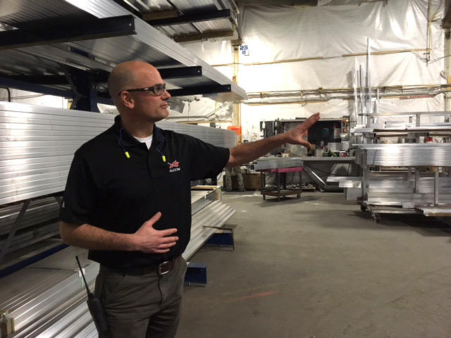 ALCOM Plant Manager Ron Neibauer. Alcom produces high-end aluminum trailers in its 100,000 square foot facility in Bonner, MT.