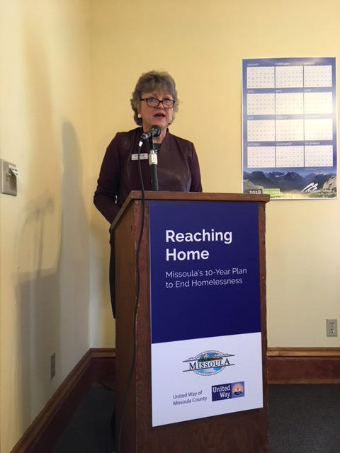 United Way of Missoula County CEO, Susan Hay Patrick.