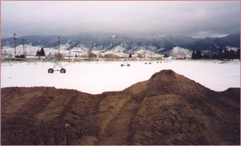 Dioxin contaminated soil at the Montana Pole Plant in Butte, Montana.