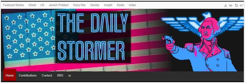 Daily Stormer website's nameplate