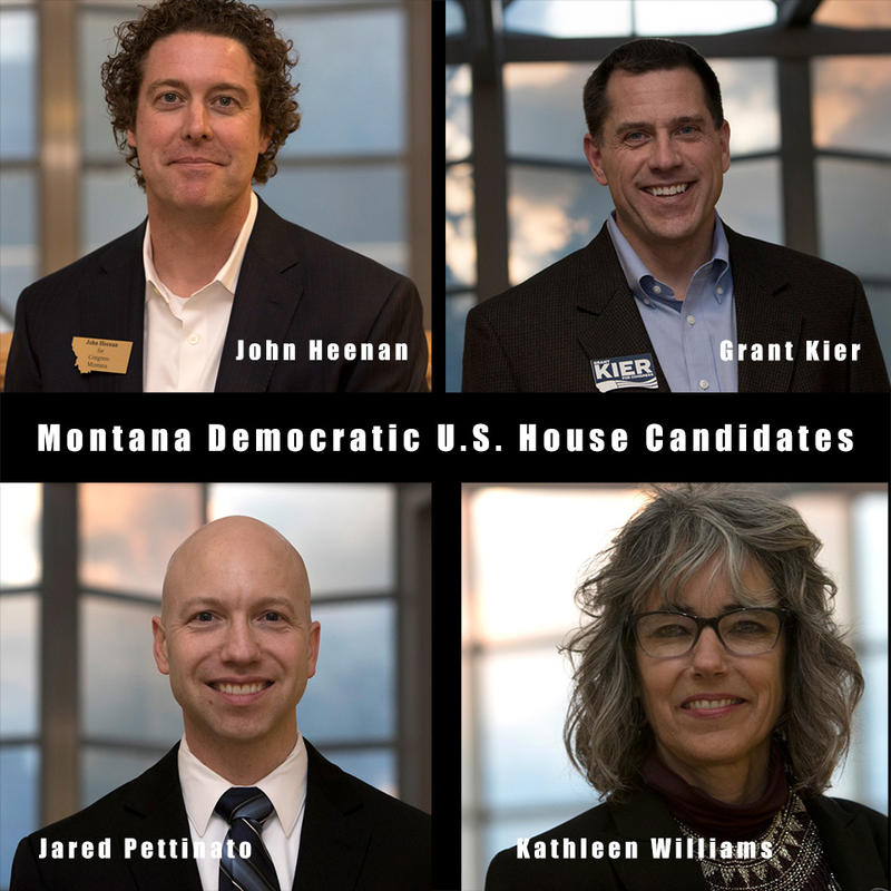 Democratic candidates for U.S. House: John Heenan, Grant Kier, Jared Pettinato, Kathleen Williams.