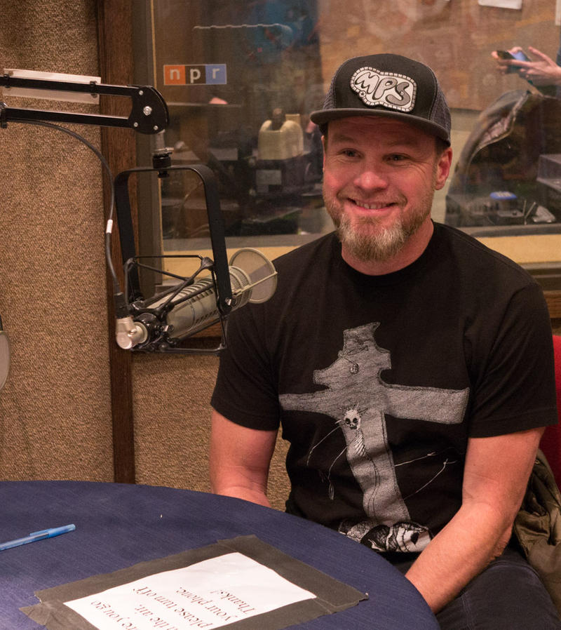 Pearl Jam bassis Jeff Ament at MTPR studios in Missoula, April 17, 2018.