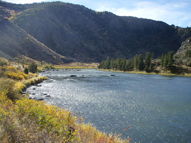 Lower Madison River in Beartrap Canyon