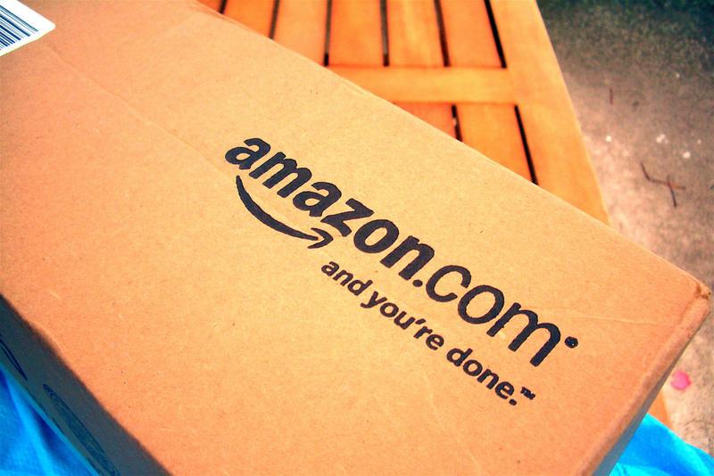 Amazon.com box.