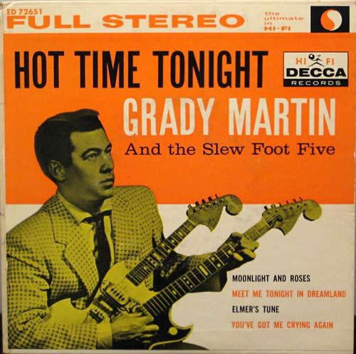 "Grady Martin's ""Hot Time Tonight"" album cover."