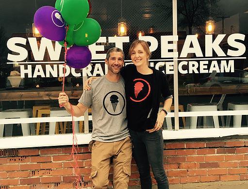 Sweet Peaks co-founders Sam Dauenhauer and Marissa Keenan.