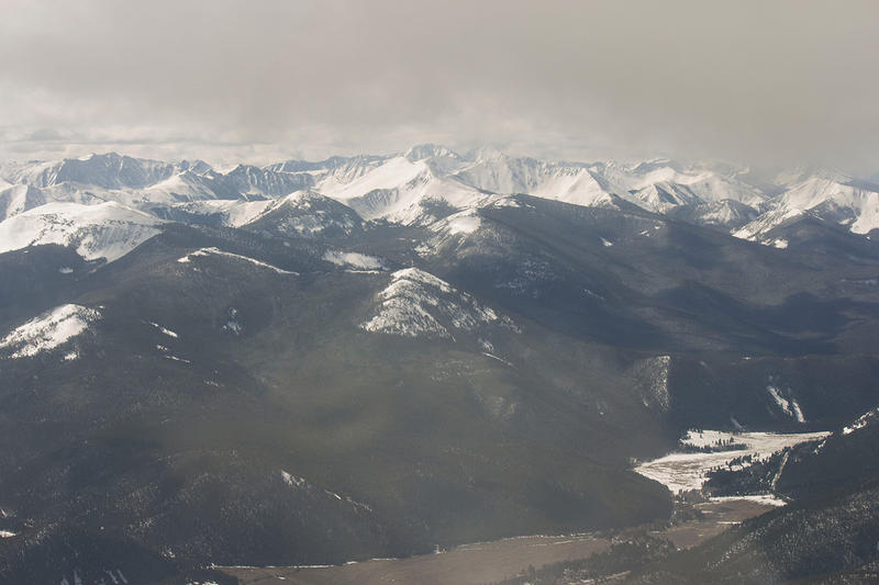 A look into the West Pioneer Wilderness Study Area  from a plane above. West Pioneer is around 150,000 acres in the Beaverhead-Deerlodge National Forest.